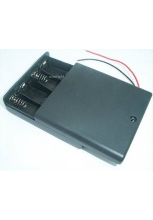 6V 4 AA Battery Holder with Switch
