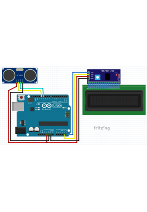 2x16 LCD Display with I2C Backpack